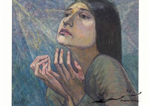 Kunstkarte Heinrich Vogeler Die Tänzerin Charlotte Bara  1918