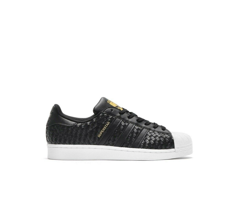 Adidas Superstar Para Hombre Zapatilla Zapato UK Talla 6.5 Negro Rrp  -