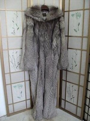 -$550 OFF! SHOWROOM ITEM FOX FUR SNOWSUIT SUIT FOR MEN SZ 40-42
