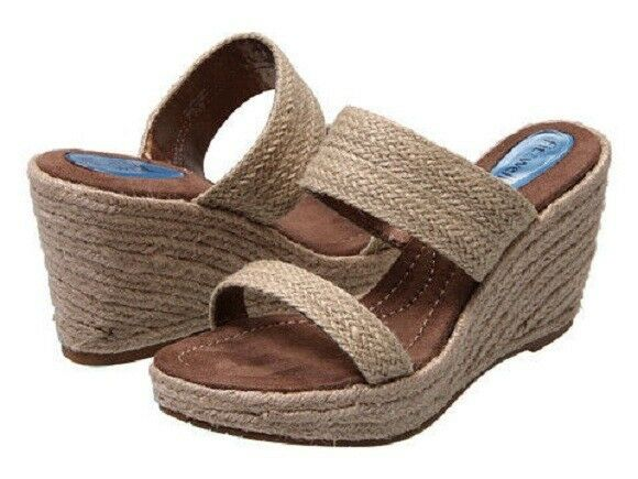 NIB  NEW Fitzwell  NATURAL ALLEY PREMIUM  COMFORT NATURAL   SANDALS Shoes BEIGE RAFFIA f1a9e7