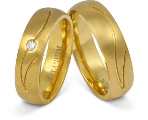 Zwei elegante Ringe aus Titan  Hochzeitsringe Eheringe mit gratis Gravur T19HD