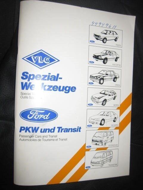Ford Katalog med nummere på alt special værktøj...