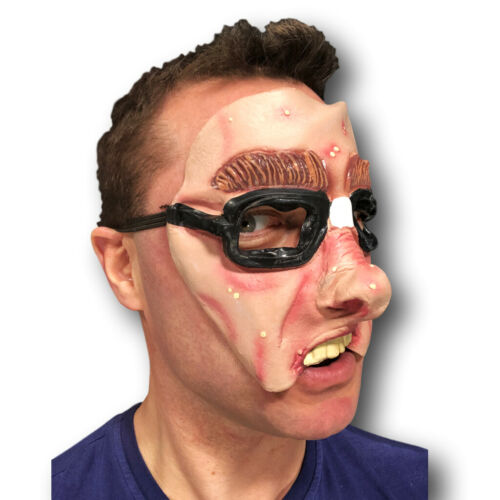 MEZZA faccia Comedy Funny People Maschera Addio Al Celibato Nubilato Lattice Party maschere Masquerade