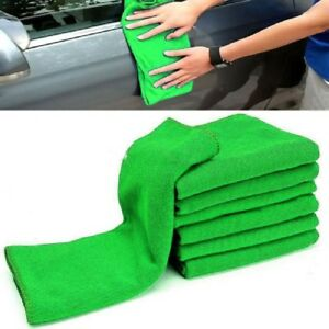 10Pcs Green Microfiber Cleaning Car Auto Soft Detailing Wash Cloth Towel Duster