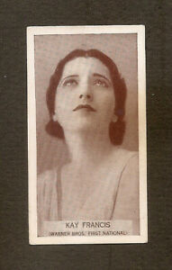 KAY-FRANCIS-FROM-WILLS-FAMOUS-FILM-STARS-VINTAGE-1939-PHOTO-CARD