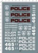 1/18 Scale Need For Speed Police Markings Roundel Model Kit Water Slide Decal