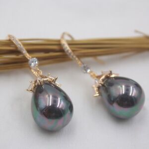 S925 silver earring and mother-of-pearl pearl