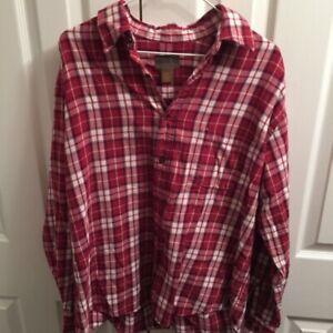 St-Johns-Bay-Mens-Button-Front-Shirt-Multicolor-Plaid-Long-Sleeve-100-Cotton-L