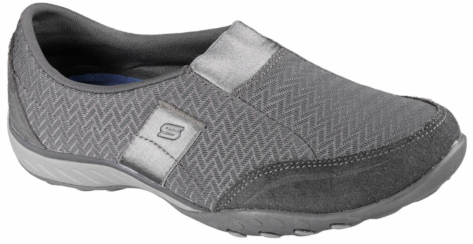 Skechers 22489 CCL Women's BREATHE EASY-RESOLUTION Slip On CHARCOAL Shoes US 7