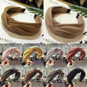 Women-Girl-Cloth-Wide-Hairband-Twist-Bow-Knot-Cross-Headband-Hair-Band-Headwear
