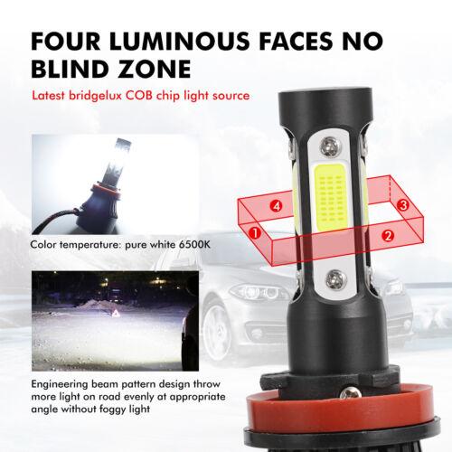 For Kenworth T680 T880 4-side H8 H9 H11 LED Headlight Low Beam Bulbs Kit 6000K