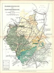 Antique-map-Cambridgeshire-and-Huntingdonshire
