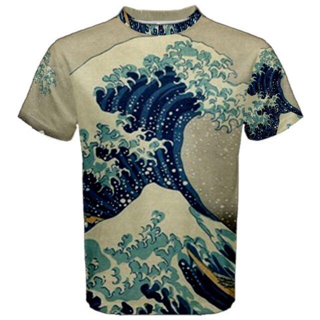 Hokusai Great Wave Off Kanagawa Sublimated Sublimation T-Shirt S,M,L,XL,2XL,3XL