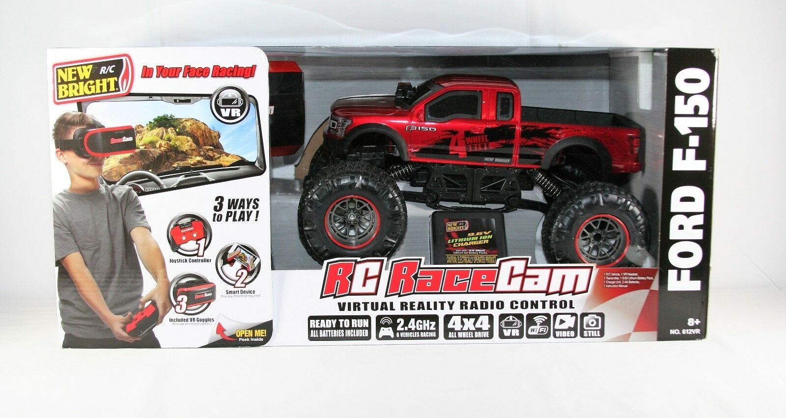 Nuovo Nuovo Nuovo Bright Ford F-150 Virtual Reality Radio Control  RC Race Cam 87fa5c