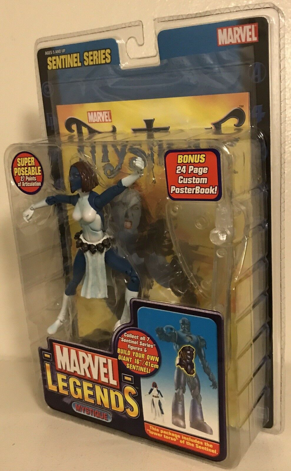 New Marvel Legends Sentinel Series Mystique Toy Biz Lower Front Torso 27pts 2005