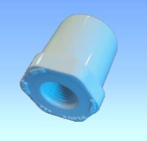 "5 PVC 1/2"" ADAPTERS Automatic Water Drinker Cup/Nipple Chicken Poultry Bushing"