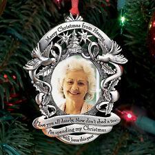 NEW Merry Christmas From Heaven Photo Ornament - Xmas Holiday Keepsake Memorial