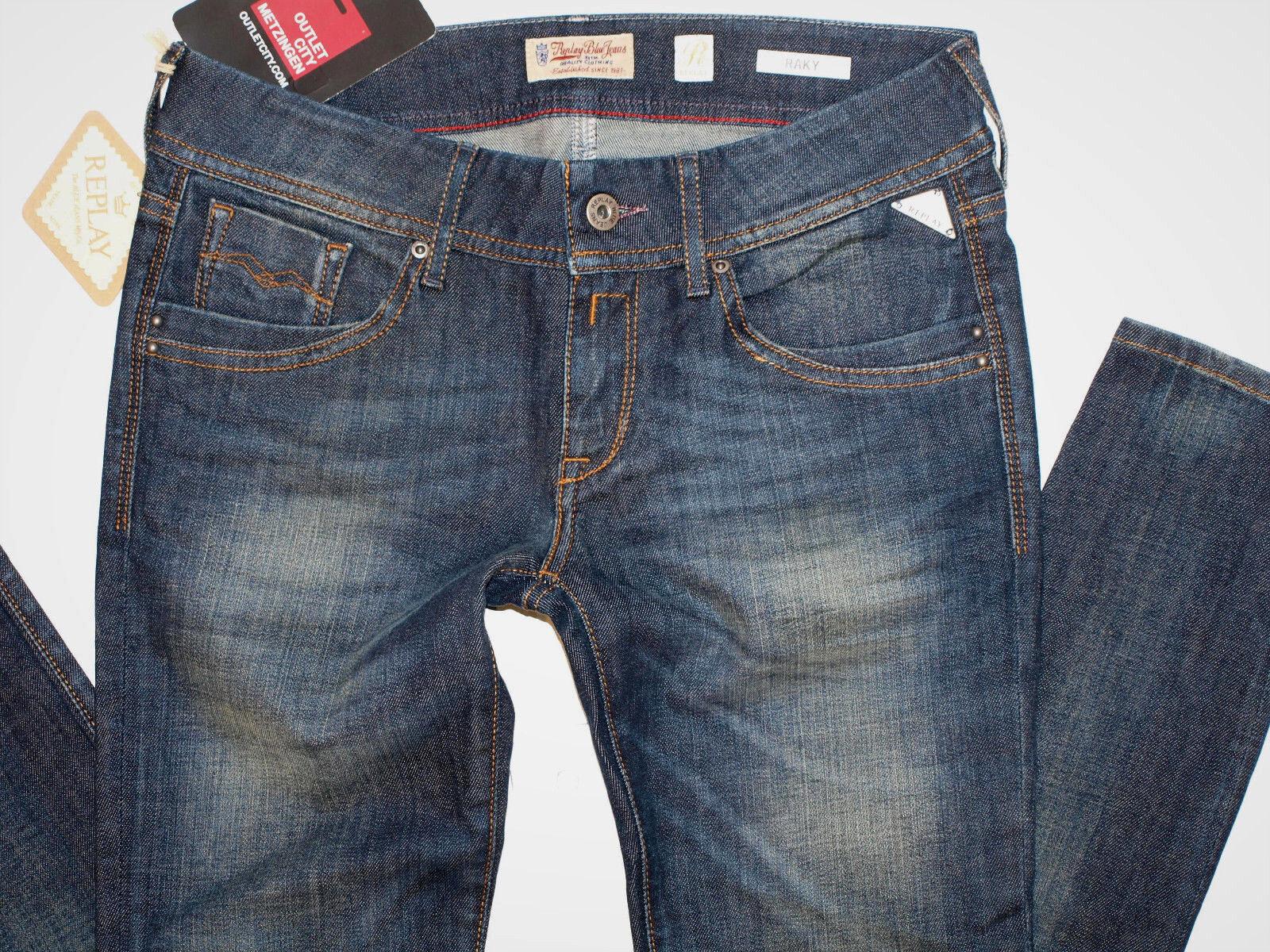 Replay Damen Skinny Jeans Raky WV690 sehr enge Skinny Denim (w26L32)
