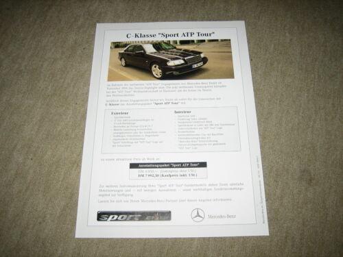 Mercedes C-Klasse «Sport ATP Tour » W202 Prospekt Blatt Brochure von 9//1996