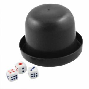Poker-Game-Dice-Shaker-amp-10-Dices-SET-OF-2-Dice-Shaker