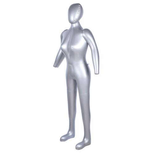 1.7m Aufblasbar Schaufensterpuppe Schaufensterfigur Weiblich Mannequin PVC Dekor