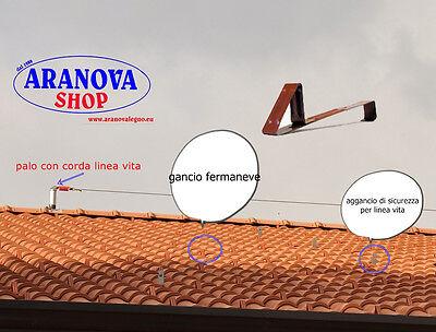 Gancio fermaneve per tegola portoghese   (40 Pz.)