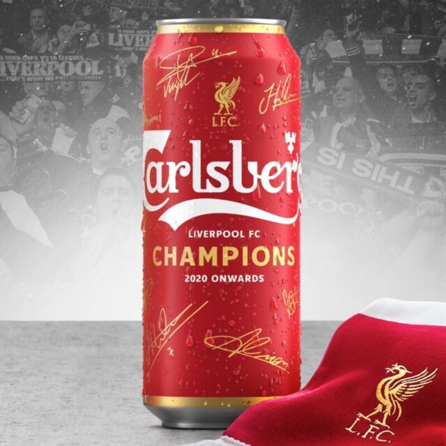 Liverpool FC Champions 2020 1X EMPTY 500ml Can Memorabilia YNWA