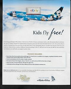 ALASKA AIRLINES 2005 BOEING 737-400 #N791AS MAGIC OF DISNEYLAND #2 POSTCARD