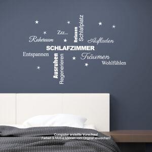Wandtattoo Schlafzimmer Schlafen Traumen Entspannen Wandaufkleber Neu Ebay