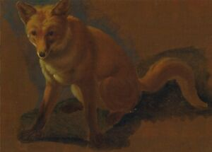 Study-of-a-Fox-detail-1810-40-JACQUES-LAURENT-AGASSE-Art-Poster