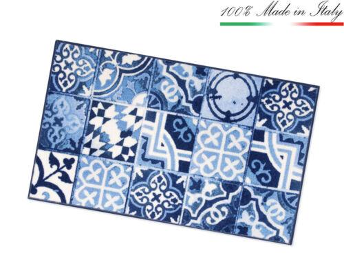 Carpet Kitchen Tiles Majolica Runner Non-Slip 7 Measures mod.TAPIRO31