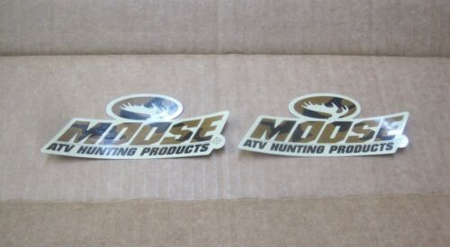 """2 Moose ATV Hunting Products 5/""""x2/"""" camo sticker//decal NEW utility division mud"""