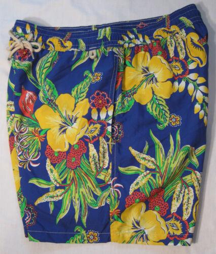 Polo Ralph Lauren Mens Swim Trunks NWT Floral Print 100/% Nylon Shell Mesh Lined