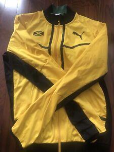 Depender de chocar traducir  Hombre Puma (L) Amarillo/Verde Jamaica Full Zip chaqueta de pista de nylon  Usain Bolt | eBay