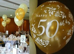 Golden-50th-Wedding-Anniversary-Balloons-Decoration-Kit-10-Table-Decorations
