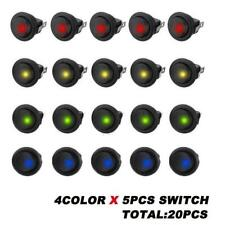 Neu 20x LED Licht 12V Auto Auto Boot Runde Rocker ON//OFF KIPPSCHALTER Beste O3O1