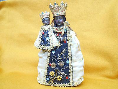Schwarze Madonna Von Altötting Gnadenmutter Bekleidet 20 Cm Mutter Gottes Neu