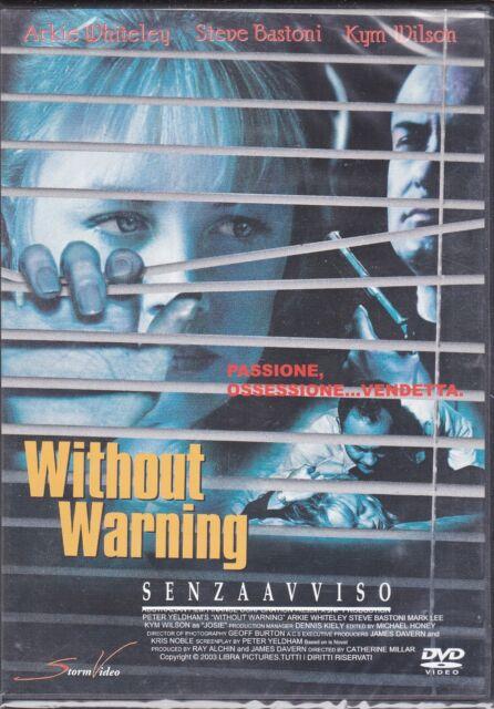 Dvd **WITHOUT WARNING ♦SENZA AVVISO** nuovo 1999