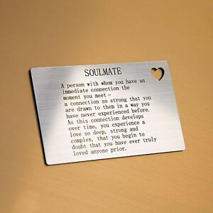 Image Is Loading 039 Soulmate Wallet Card Insert With Heart