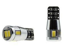 2x 6 SMD LED XENON weiß w5w T10 Kühlkörper CheckControl Can-Bus Kein Standlicht