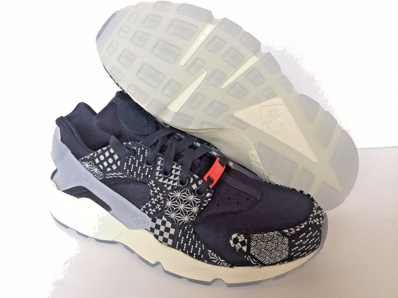 NIKE  AIR HUARACHE ID NAVY BLUE/WHITE MENS SZ 8.5 [777330 976] NEW
