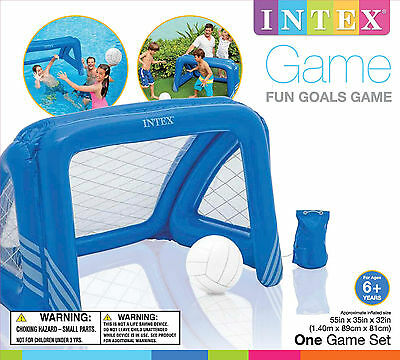Intex Swimming Pool Fun Goals Floating Sport Game Water Polo