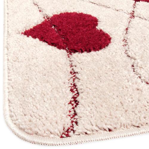 Tappeto bagno camera letto soffice shaggy cuore moderno antiscivolo assorbente
