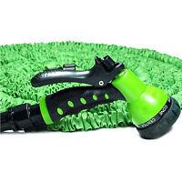 100 Ft Expanding Flexible Retractable Garden Water Hose W/ Nozzle Plastic Head