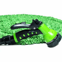 75 Ft Expanding Flexible Retractable Garden Water Hose With Nozzle Plastic Head