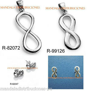 COLGANTES-PENDIENTES-INFINITO-INFINITE-PLATA-LEY-925ML-HANGING-SILVER-STERLING
