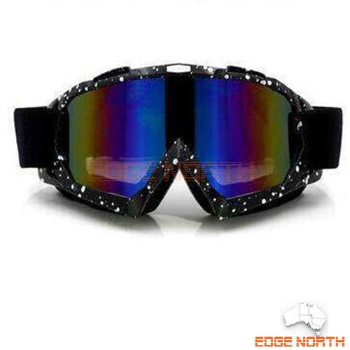 GOGGLES Snow Snowmobile Snowboard SKI UV Adults Sports Windproof Anti Fog Black