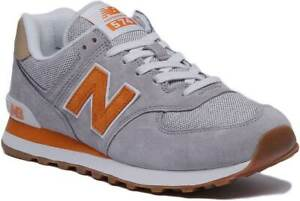 Details about New Balance 574 Classic Womens Suede Mesh Trainer In Grey  Yellow Size UK 3 - 8