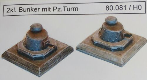 Artmaster 80.081 piccolo bunker con PZ TORRE 2 pezzi h0 1 87 KIT RESIN