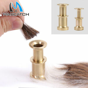 Maxcatch-Hair-Stacker-Fishing-Fly-Tying-Accessory-Brass-Fish-Tackle-Small-Medium